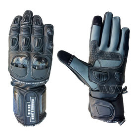 Biking Brotherhood Full Gauntlet Gloves-Black