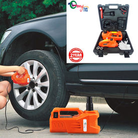 myTVS 3 Ton Electronic Car Jack & Wrench (5 in 1 Kit) Machine with 2 Yr Warranty