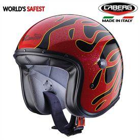 Caberg Freeride Flame Black/Red Open Face Helmet