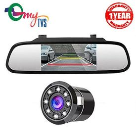 myTVS TRV-37 4.3 Inches Car Rear View Mirror & Reverse Camera with 1yr Warranty-For All Cars