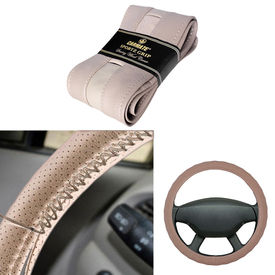Carmate Car Beige SG-18 Leatherette Car Steering Wheel Cover-All Cars