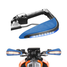 Speedwav Bike Blue Hand Protector Guard with LED indicators Set of 2 For all Bikes
