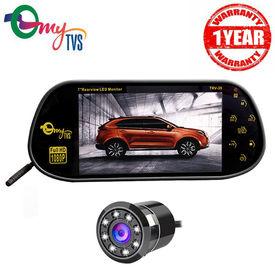 myTVS 7 inch TRV-39 7inch Multimedia/Usb Screen + 8 Led Night Vision Car Rear view Camera(1 Yr Warranty) for all Cars