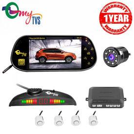 myTVS 7 inch TRV-39 7inch Multimedia/Usb Screen + White Car Parking Sensor + Nightvision Rear view Camera(1 Yr Warranty) for all Cars