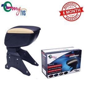 myTVS TAR-15 Car Designer Armrest with Slider-Black & Beige