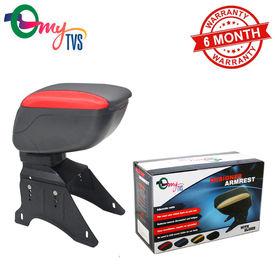 myTVS TAR-16 Car Designer Armrest with Slider-Black & Red