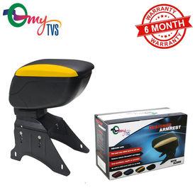 myTVS TAR-18 Car Designer Armrest with Slider-Black & Yellow