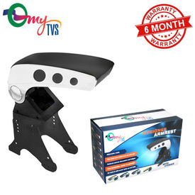 myTVS TAR-20 Car Metallic Dual Tone Armrest-Black & Chrome