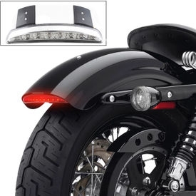 Accedre Chopped Fender Edge LED Tail Light Clear for Harley Davidson