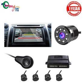 myTVS TPK-57 Black Reverse Car Video Parking Sensor Kit with 8 LED Night Vision Camera