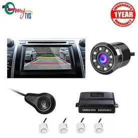 myTVS TPK-57 White Reverse Car Video Parking Sensor Kit with 8 LED Night Vision Camera
