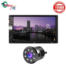 myTVS TAV-61 Car Double Din HD Touch Screen Stereo with 8 LED Rear View Camera
