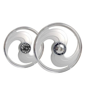 Kingway TS2A 2 Spokes Bike Alloy Wheel Set of 2 19/19 Inch Silver For Royal Enfield