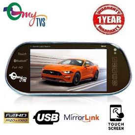 myTVS TRV-67 7 inches Car Rear View Full HD Touch Screen with Mirror Link, USB, SD, Camera Connectivity - Black