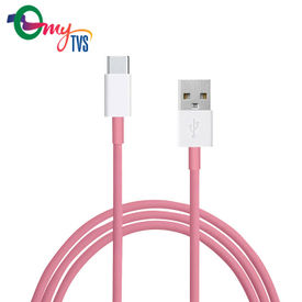 myTVS TC-71 Type C USB Fast Charging Data Cable for Android (1 mtr)- Pink