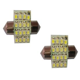 Type R 16 LED Car Dome Ceiling Roof Interior Reading Light white (set of 2)