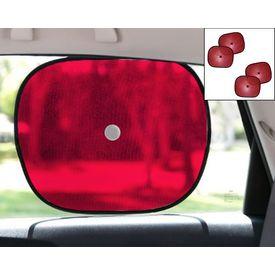 Car Side Window Sunshades Stick On Sun Shade SET OF 4 - Red
