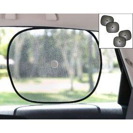 Car Side Window Sunshades Stick On Sun Shade SET OF 4 - Black