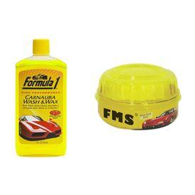 Combo of Formula 1 Car Shampoo (236ml) and Formula 1 Wax(230g)