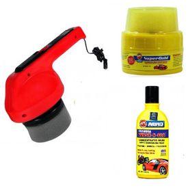 Coido 6003 Car Polisher Polish Shining Machine + Abro Wax + Abro Shampoo