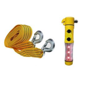 Combo of Speedwav 5 in 1 Car Emergency Tool Kit & 3 ton 3 meters Tow Cable