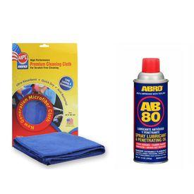 ABRO Spray Lubricant With Teflon AB-80 (283 gm)+Microfiber Cloth