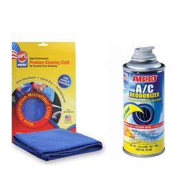 ABRO Car AC Air Deodorizer AC-050 (142 gm)+Microfiber Cloth
