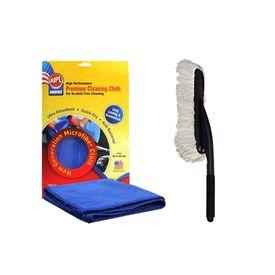 ABRO Microfiber Duster - Economy size MD-360+Microfiber Cloth