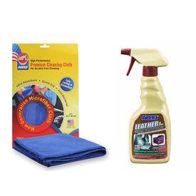ABRO Leather & Vinyl Cream Conditioner LC-536 472 ml+Microfiber Cloth