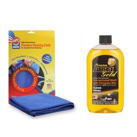 ABRO Premium Gold Car Wash CW-990-16 (472 ml)+Microfiber Cloth