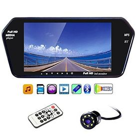 Speedwav 7 Inch Full HD LED Screen with Bluetooth and Touch Panel+8LED Reverse Camera