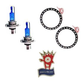 Combo Speedwav CYT Bike Headlight Bulb+LED Angel Eyes-White+Jazzy Perfume