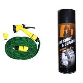 F1 Auto Tyre Shine and Cleaner 650ml+Speedwav Pressure Washing Gun