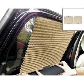 Speedwav Car Auto Folding Sunshades Curtains Set Of 2-BEIGE