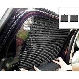 Speedwav Car Auto Folding Sunshades Curtains Set Of 2-BLACK