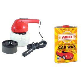 Coido 6003 Car Polisher+ABRO Silicon Cleaner & Car Wax SW-300 473 ml