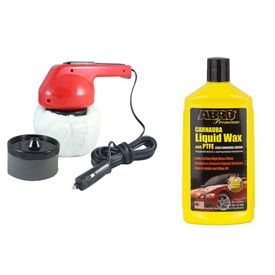 Coido 6003 Car Polisher+ABRO Car Wax Liquid LW-900 (473 ml)