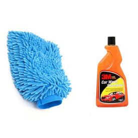 Combo of 3M Car Shampoo(500 ML) + Speedwav Microfiber Glove Mitt
