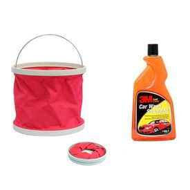 Combo of 3M Car Shampoo(500 ML) + Speedwav Water Bucket