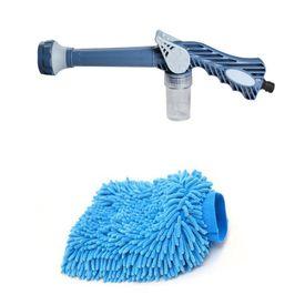 Speedwav EZ 8in1 Car Pressure Washing Cannon & Shampoo Mixer+Microfiber Glove