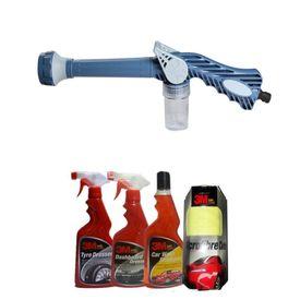 Speedwav EZ 8in1 Car Pressure Washing Cannon & Shampoo Mixer+3M Care Kit-Small