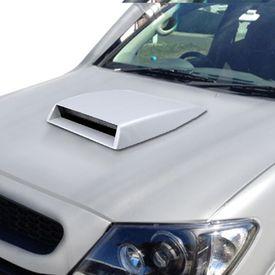Speedwav Car Turbo Style Air Intake Bonnet Scoop-White