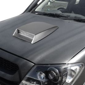 Speedwav Car Turbo Style Air Intake Bonnet Scoop-Silver