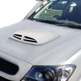 Speedwav Car Double Vent Air Intake Bonnet Scoop White