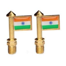 Speedwav Indian Flag Bike Handle Bar Set Of 2