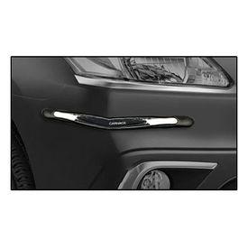 Car Nack Scratch Door Guards Protectors-Black & Chrome