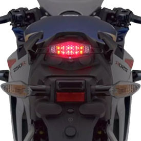 Speedwav 12 LED Hexagon Brake Light With Indicators-Red