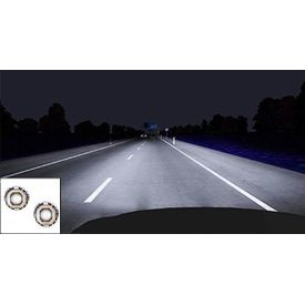 Speedwav Car H4 Projector HID With Hexagon DRL Set of 2-White