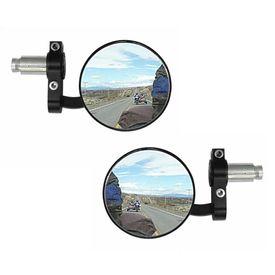 Speedwav Bike Handle Grip Bar End Rear View Mirror Set Of 2-BLACK