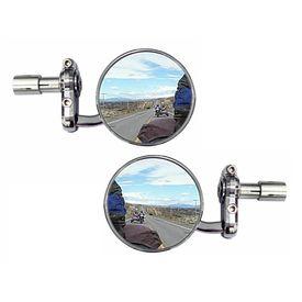 Speedwav Bike Handle Grip Bar End Rear View Mirror Set Of 2-CHROME